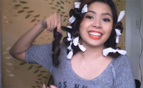 Cách làm tóc xoăn bàng giấy