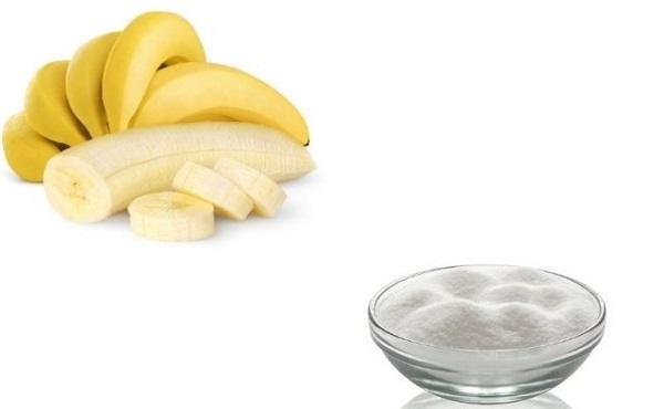 Tẩy tế bào chết cho da mặt bằng chuối và đường