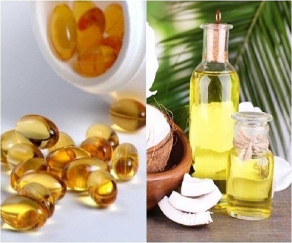 Dầu dừa kết hợp vitamin E