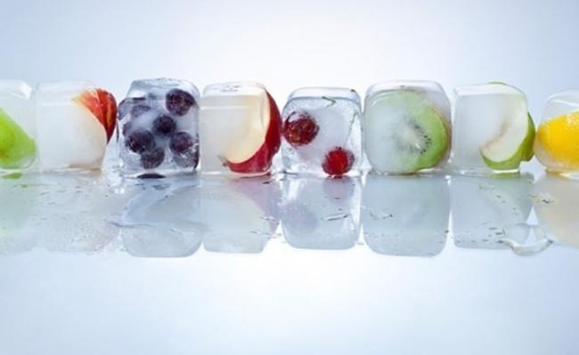 Nước đá trị mụn cho da thường