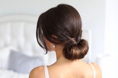 cách buộc tóc thấp đẹp