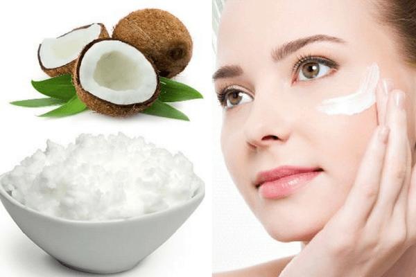 Trị thâm mụn bằng dầu dừa và lòng trắng trứng