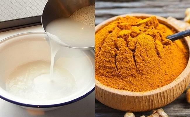 Trị mụn bằng nghệ và nước vo gạo giúp tái tạo da