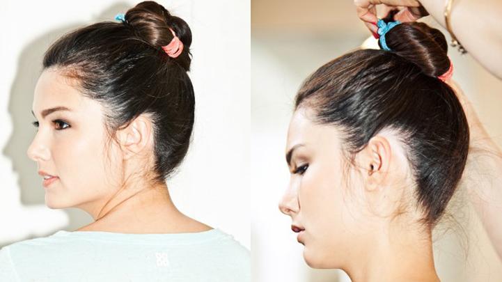 Kết quả hình ảnh cho Cách cột tóc cao dễ thương thanh lịch
