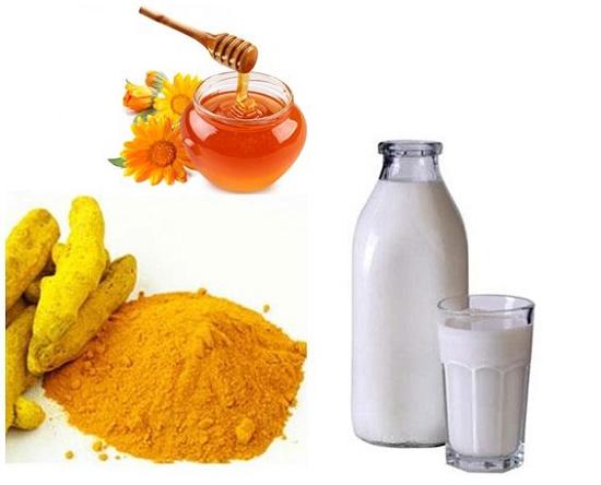 Nghệ kết hợp mật ong và sữa tươi giúp làm đẹp cho làn da