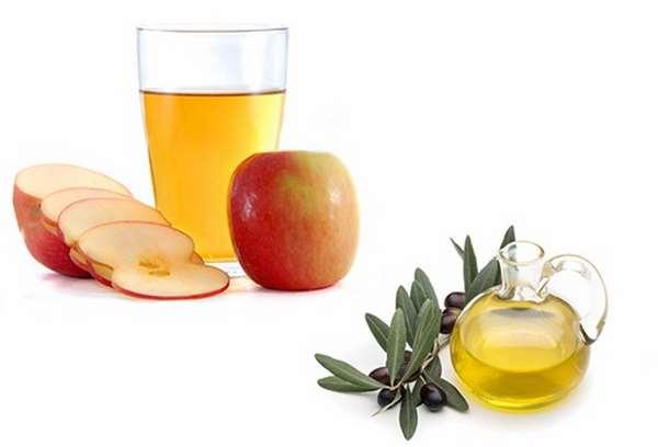 Mặt nạ dầu oliu giấm táo cho da mặt