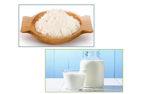 trị mụn bằng cám gạo và sữa chua