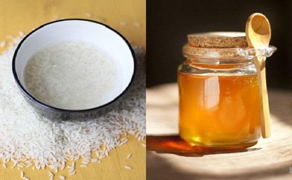 Mặt nạ nước vo gạo và mật ong
