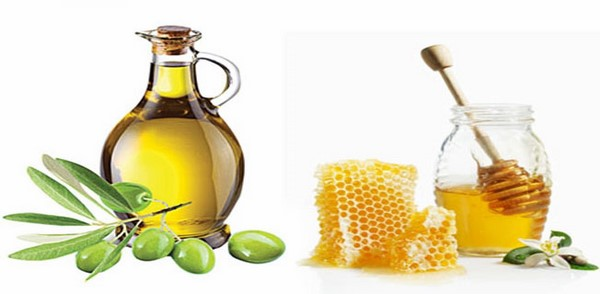 Dùng dầu oliu làm trắng da mặt cùng mật ong
