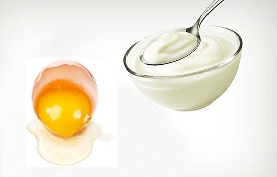 Mặt nạ trứng gà và sữa chua dưỡng da đẹp