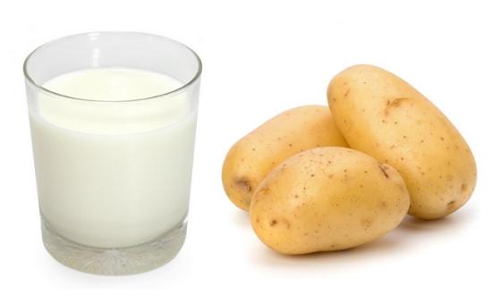 Chăm sóc da với mặt nạ khoai tây và sữa tươi