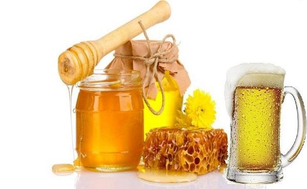 Mặt nạ chống nắng bằng bia và mật ong