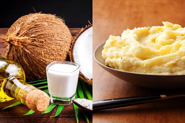 Trị thâm mụn bằng dầu dừa và sữa chua